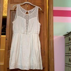 White BCBG Cotton dress